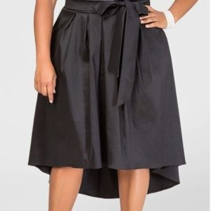 Ashley Stewart HiLo Belted Skirt Size 24 Taffeta